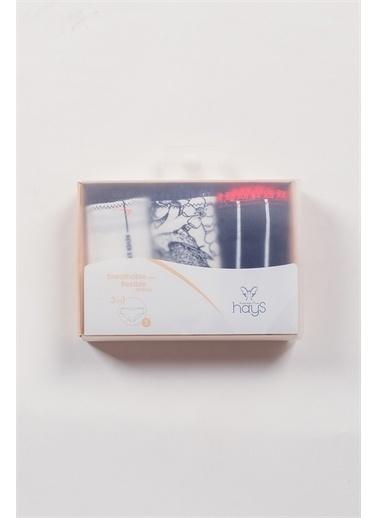 Hays Hays 30650B342 3'Lü Paket Klasik Slip Kadın Külot Renkli